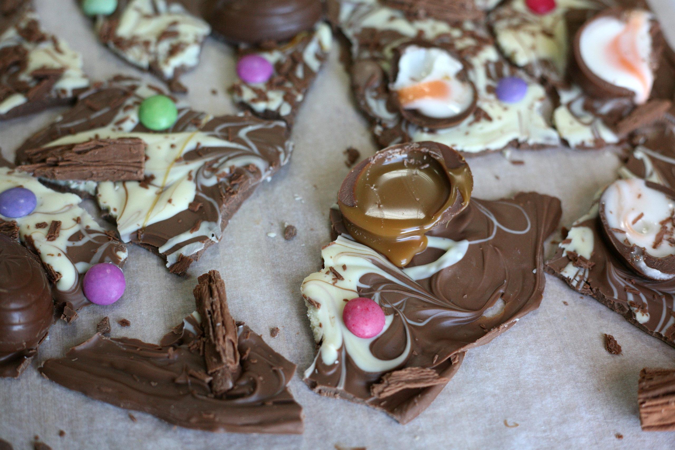 Easter milk chocolate bark