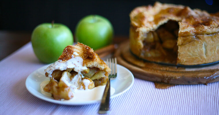 Apple and salted caramel pie
