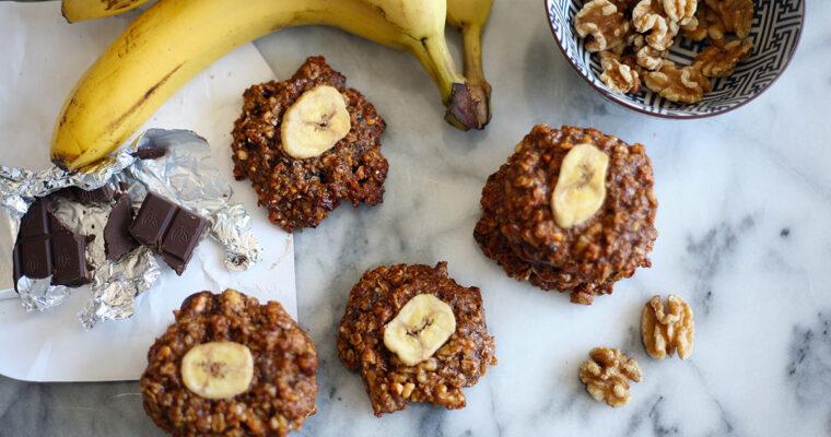 Chunky monkey quinoa cookies