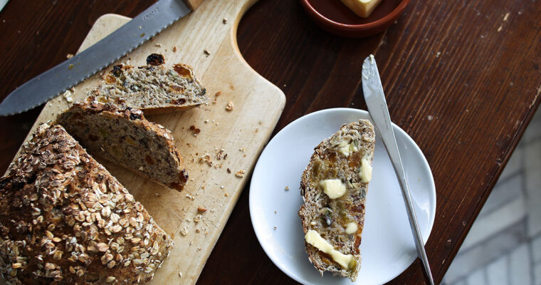 Seeded multigrain bread with golden raisins